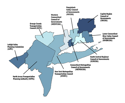 Map of the Metropolitan Area Planning Forum multi-state region