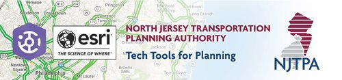 Tech Tools for Planning graphic featuring a map and logos.